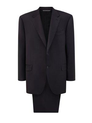 Классический костюм из шерстяной ткани Impeccabile CANALI. Цвет: черный