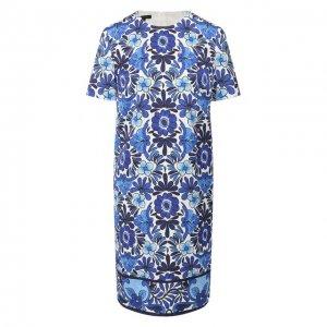 Платье с принтом Escada. Цвет: синий