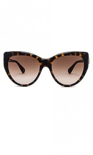 Солнцезащитные очки oversize cat eye fork Gucci. Цвет: коричневый