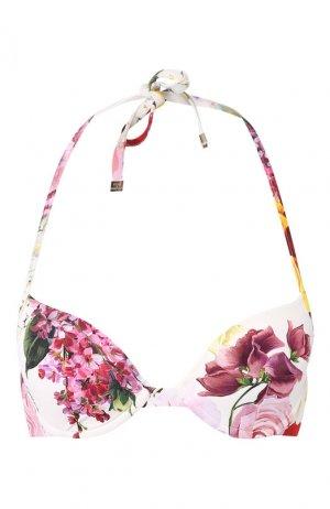 Бра с принтом Dolce & Gabbana. Цвет: белый