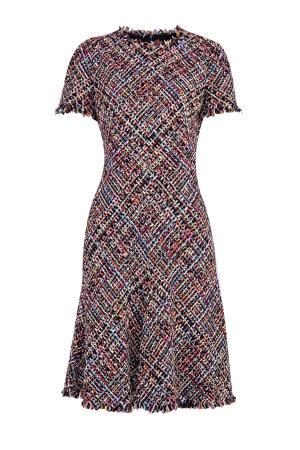 Платье приталенного кроя из хлопкового твида Wishing Tree ALEXANDER MCQUEEN. Цвет: мульти