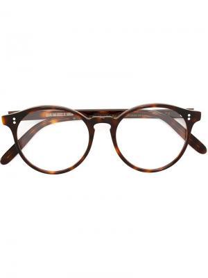 Оптические очки в круглой оправе Cutler & Gross. Цвет: коричневый