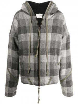 Шерстяная куртка в клетку Greg Lauren. Цвет: серый