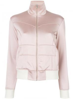 Куртка бомбер с панельным дизайном Mm6 Maison Margiela. Цвет: розовый и фиолетовый