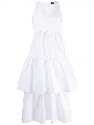 Ярусное платье без рукавов Aspesi. Цвет: белый