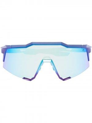 Спортивные солнцезащитные очки Speedcraft 100% Eyewear. Цвет: синий