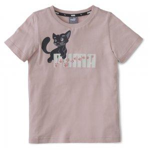 Детская футболка Animals Tee PUMA. Цвет: розовый