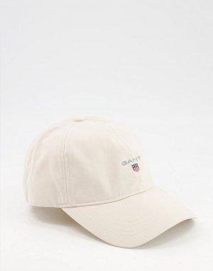 Кепка кремового цвета с маленьким логотипом -Белый Gant