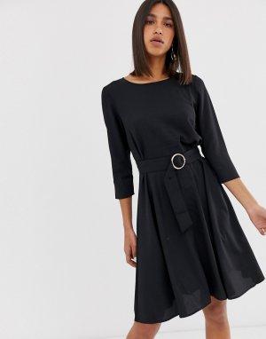 Свободное платье с поясом 2NDDAY June 2nd Day. Цвет: черный