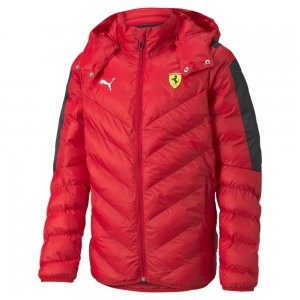 Детская куртка Scuderia Ferrari Race T7 Youth Jacket PUMA. Цвет: красный