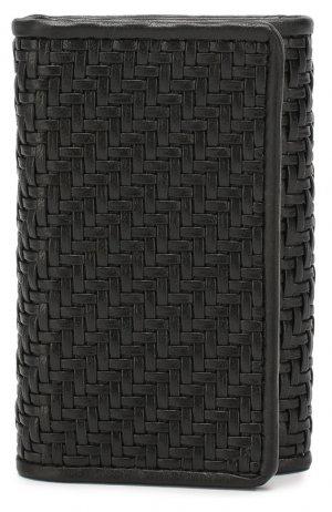 Кожаный футляр для ключей Ermenegildo Zegna. Цвет: чёрный