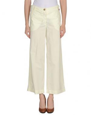 Повседневные брюки BLUE DEEP. Цвет: светло-желтый