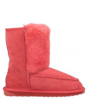 Полусапоги и высокие ботинки EMU. Цвет: красный