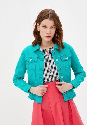 Куртка джинсовая Savage. Цвет: бирюзовый