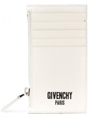 Визитница на молнии Givenchy. Цвет: белый
