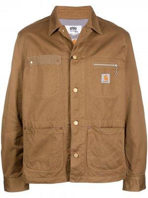 Куртка-рубашка с карманами Junya Watanabe. Цвет: коричневый
