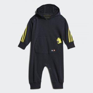 Комбинезон с капюшоном x Classic LEGO® adidas. Цвет: черный
