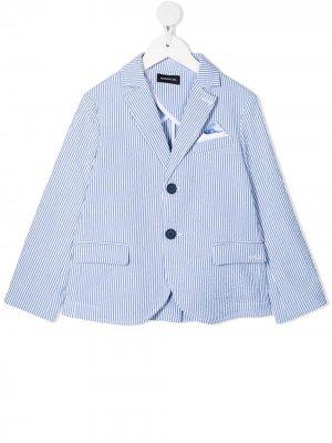 Пиджак в тонкую полоску Monnalisa. Цвет: синий