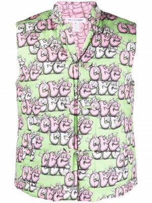 Жилет с логотипом Comme Des Garçons Shirt. Цвет: зеленый