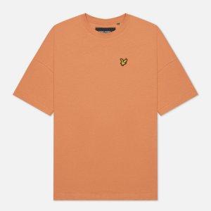 Женская футболка Oversized Lyle & Scott. Цвет: оранжевый