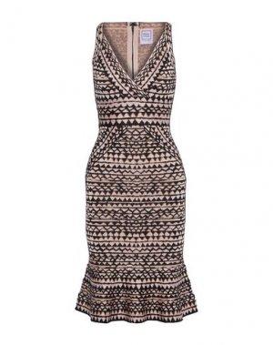 Платье до колена HERVÉ LÉGER. Цвет: светло-розовый