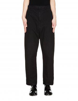 Черные хлопковые брюки чинос Junya Watanabe