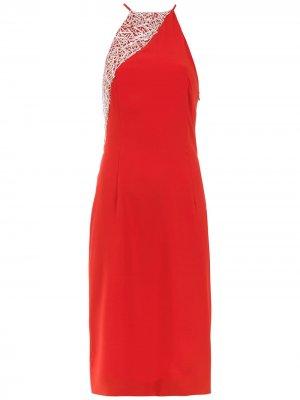 Embroidered dress Gloria Coelho. Цвет: красный