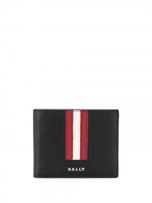 Складной кошелек Bally. Цвет: черный
