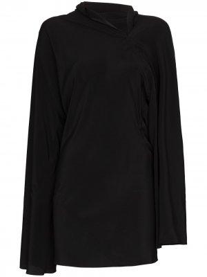 Платье мини Seb Rick Owens. Цвет: черный