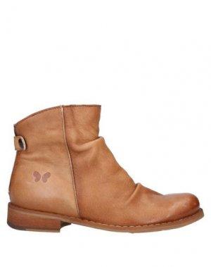 Полусапоги и высокие ботинки FELMINI. Цвет: желто-коричневый
