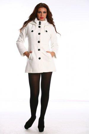 Пальто Ines Collezione. Цвет: белый