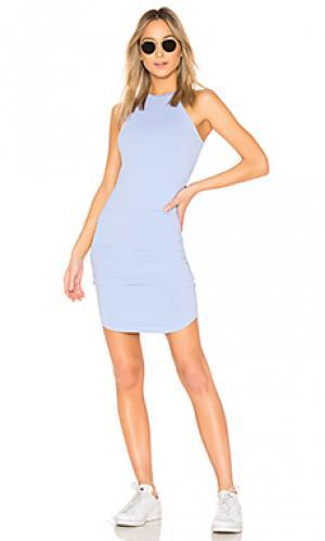 Платье миди kravitz LA Made. Цвет: нежно-голубой