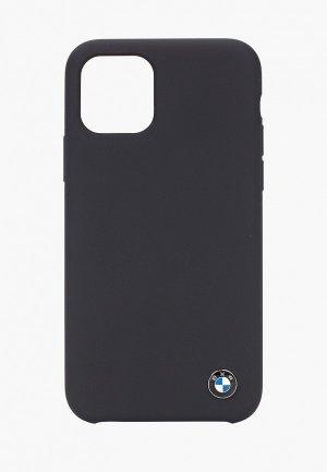 Чехол для iPhone BMW 11 Pro, Signature Liquid silicone Space grey. Цвет: черный
