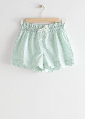 Детские шорты на кулиске с зубчатой отделкой &Other Stories. Цвет: зеленый