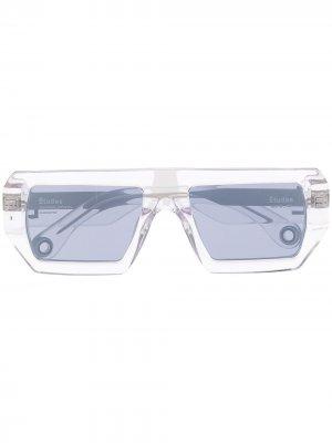 Солнцезащитные очки Sauvage с кристаллами Etudes. Цвет: белый