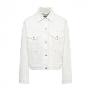 Джинсовая куртка Nanushka. Цвет: белый