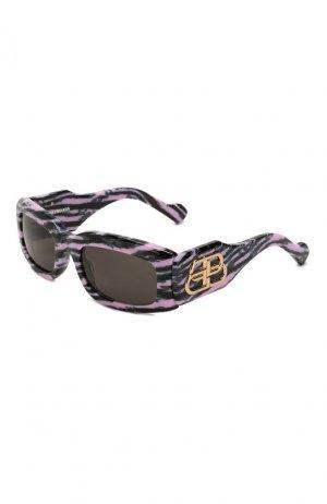 Солнцезащитные очки Balenciaga. Цвет: розовый