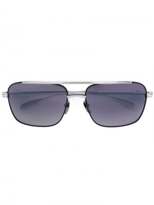 Массивные квадратные солнцезащитные очки Chrome Hearts. Цвет: металлический