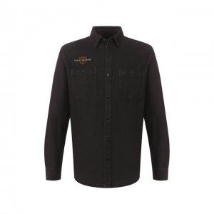 Хлопковая рубашка Genuine Motorclothes Harley-Davidson. Цвет: коричневый