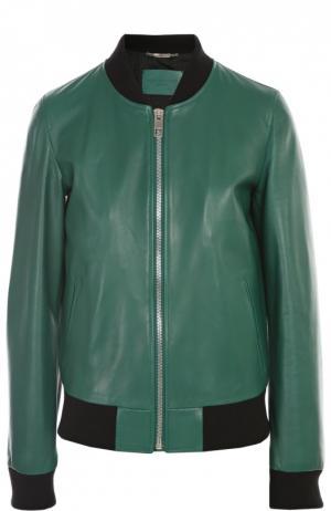 Кожаная куртка Dolce & Gabbana. Цвет: зеленый