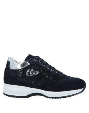 Низкие кеды и кроссовки BLU BYBLOS. Цвет: темно-синий