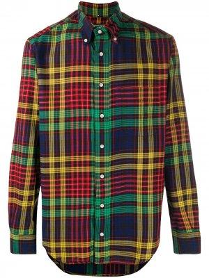 Рубашка в клетку тартан Gitman Vintage. Цвет: зеленый