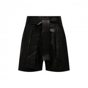 Кожаные шорты Iro. Цвет: чёрный