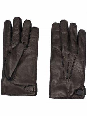 Перчатки с декоративной строчкой Billionaire. Цвет: черный