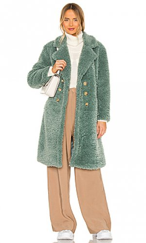 Короткое пальто KENDALL + KYLIE. Цвет: сине-зеленый