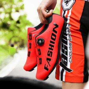 Мужская велосипедная обувь с текстовым принтом SHEIN. Цвет: красный