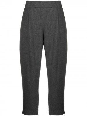 Укороченные брюки Luella строгого кроя La Collection. Цвет: серый