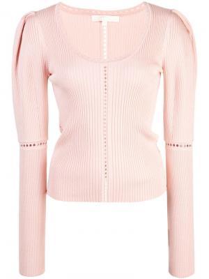 Пуловер в рубчик Jonathan Simkhai. Цвет: розовый