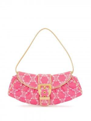 Сумка на плечо Paris с узором Macadam Céline Pre-Owned. Цвет: розовый