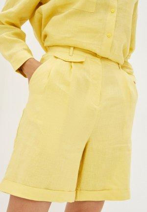 Шорты UNQ. Цвет: желтый